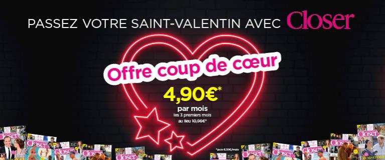 Passez la Saint-Valentin avec Closer !