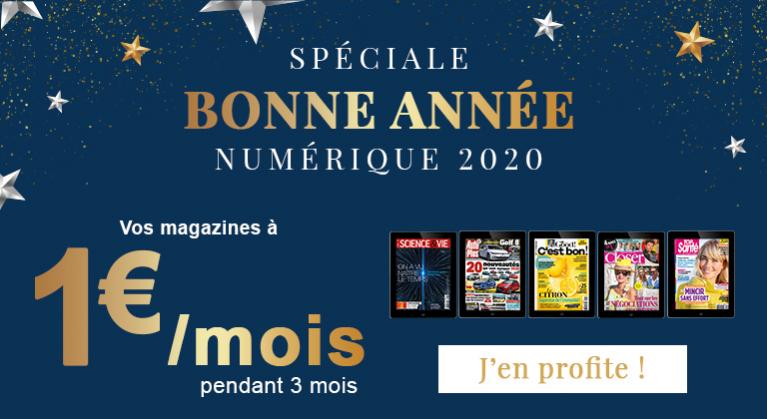 Bonne année 2020 numérique