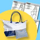 Lot : Patrons + le sac et sa pochette