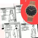 4 patrons/mois et la montre bracelet milanais métal