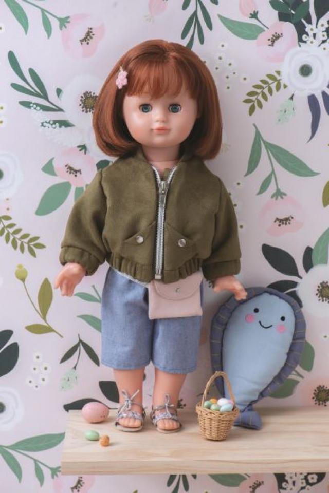 Patron enfant et poupée : Teddy en suédine