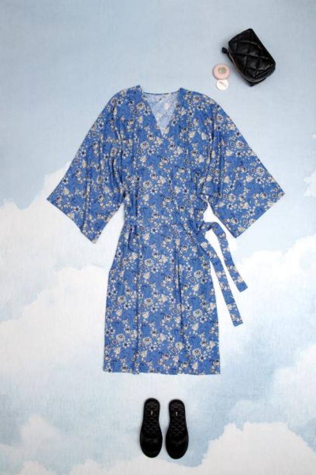 Patron femme : peignoir kimono
