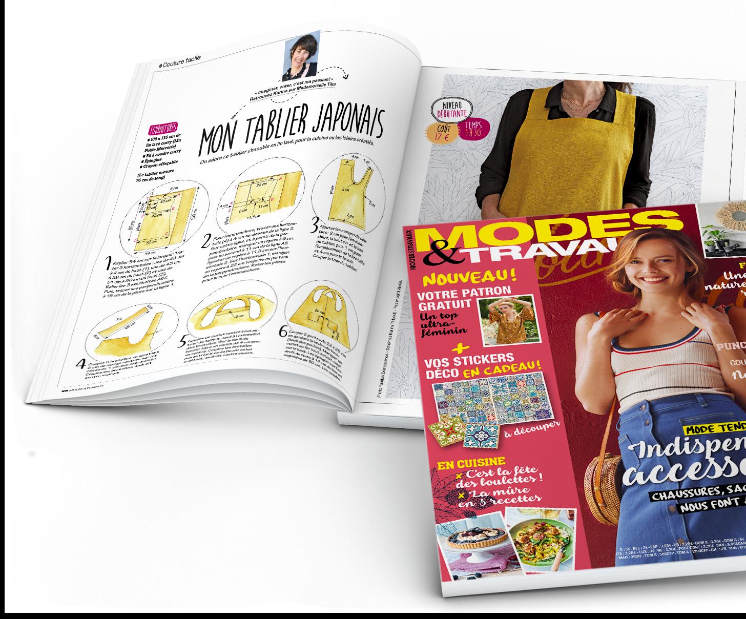 La boutique du magazine Modes & Travaux